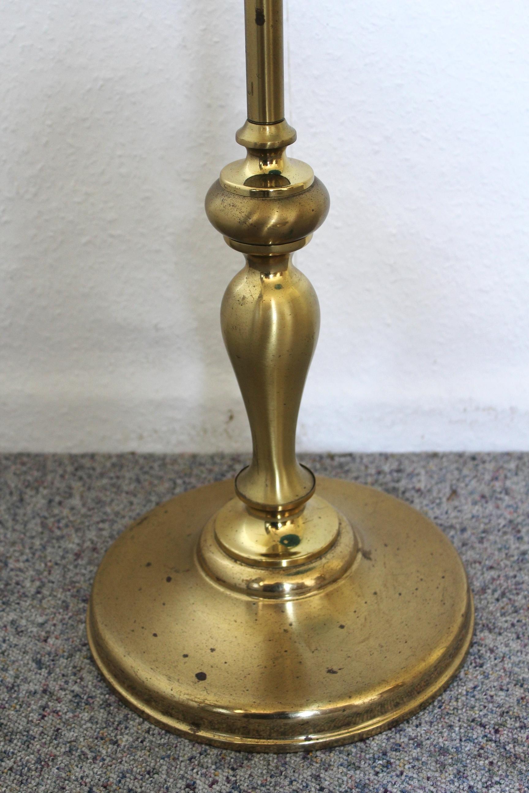 Einzigartige Messing Stehlampe Mit Schirm Mon Ami E Vintage